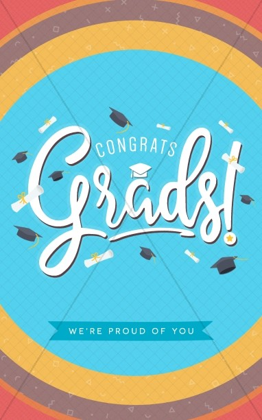 Congrats Grads Graduation Bulletin Cover Template
