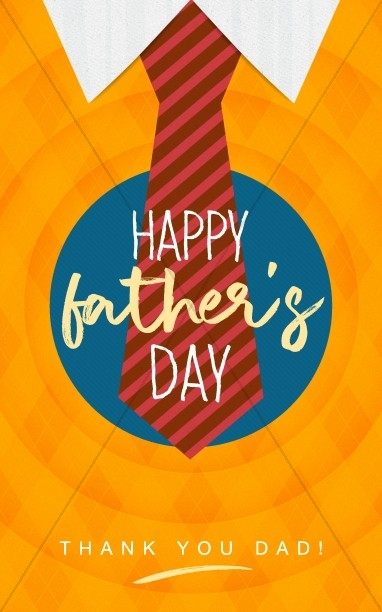 Happy Father's Day Argyle Church Bulletin Cover