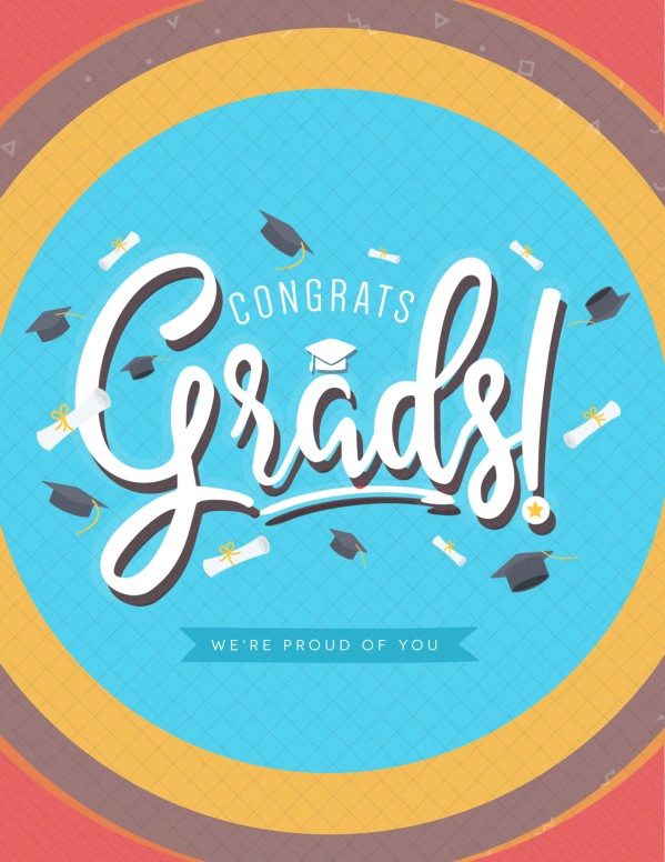 Congrats Grads Graduation Church Flyer Template