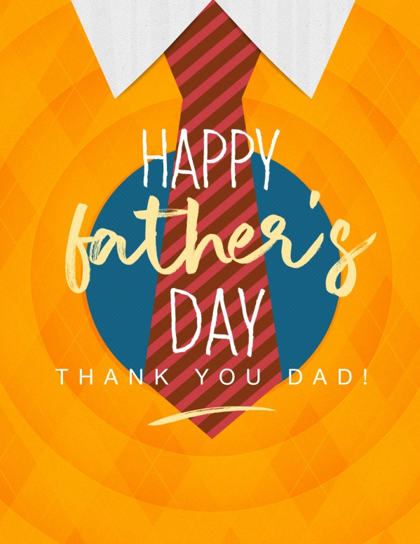 Happy Father's Day Argyle Flyer Template