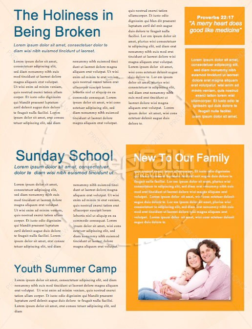 Happy Father's Day Argyle Newsletter Template