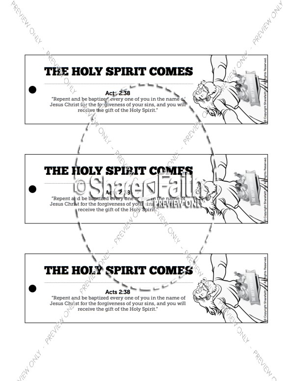 Acts 2 The Holy Spirit Comes  Bible Bookmarks