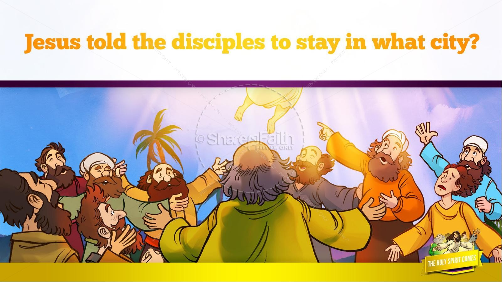 Acts 2 The Holy Spirit Comes Kids Bible Story | slide 11