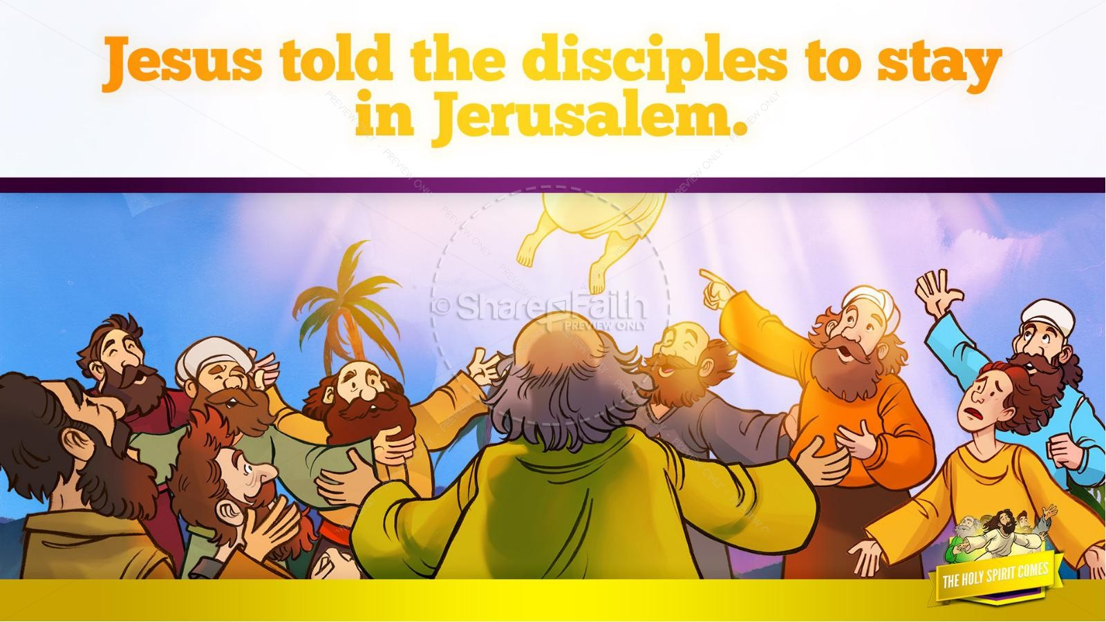 Acts 2 The Holy Spirit Comes Kids Bible Story | slide 12