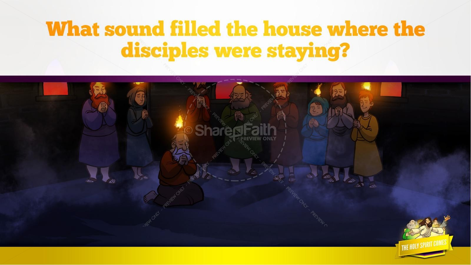 Acts 2 The Holy Spirit Comes Kids Bible Story | slide 19