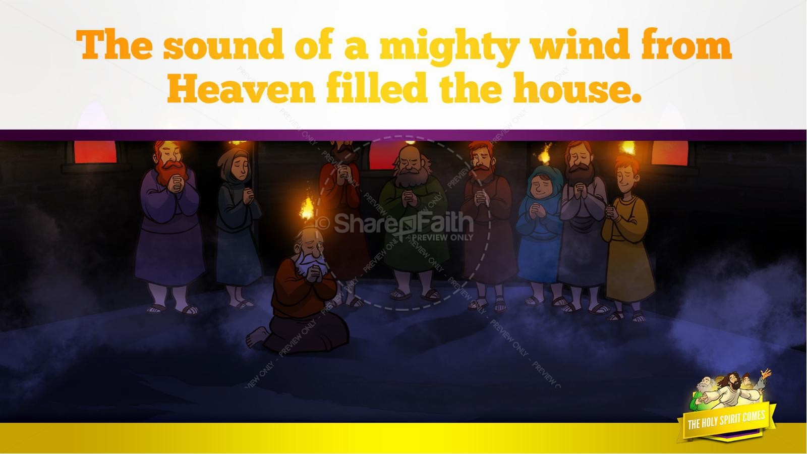 Acts 2 The Holy Spirit Comes Kids Bible Story | slide 20