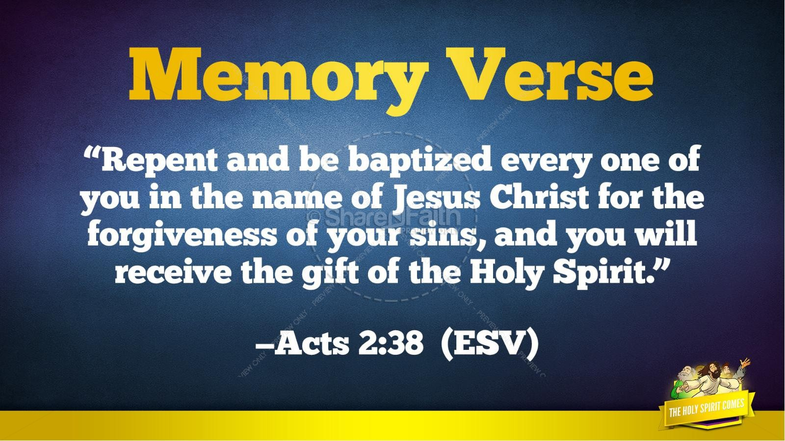 Acts 2 The Holy Spirit Comes Kids Bible Story