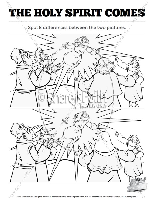 Acts 2 The Holy Spirit Comes Spot the Differences
