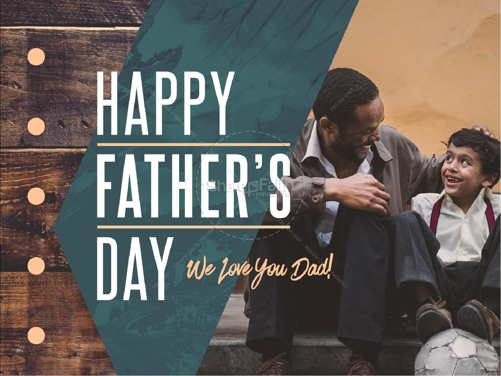 Father's Day Father & Son Church PowerPoint