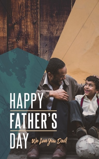 Father's Day Father & Son Church Bulletin Cover