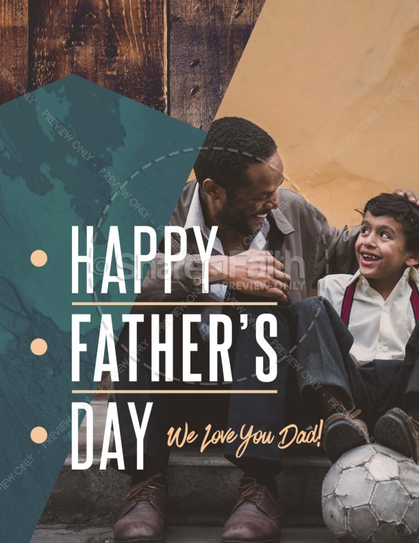 Father's Day Father & Son Church Flyer