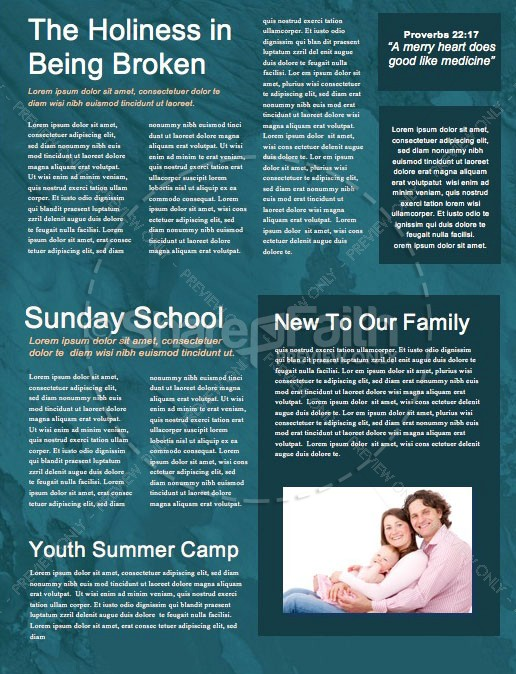 Father's Day Father & Son Church Newsletter