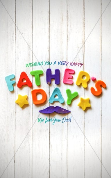 Father's Day We Love You Dad Church Bulletin