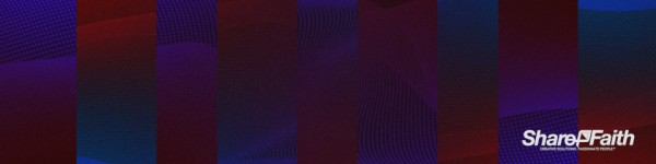 Reflecting Particle Wave Multi Screen Worship Video Background
