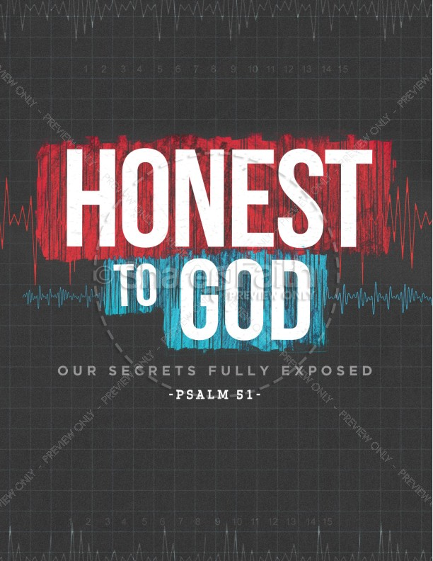 Honest To God Church Flyer Template