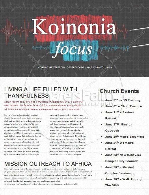 Honest To God Church Newsletter Template