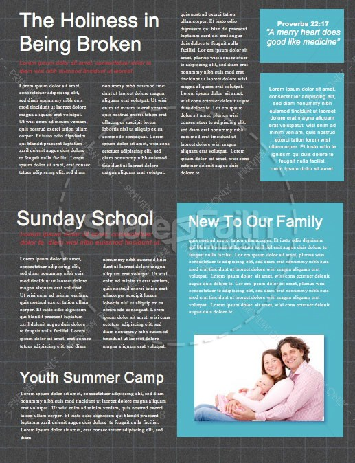 Honest To God Church Newsletter Template | page 2