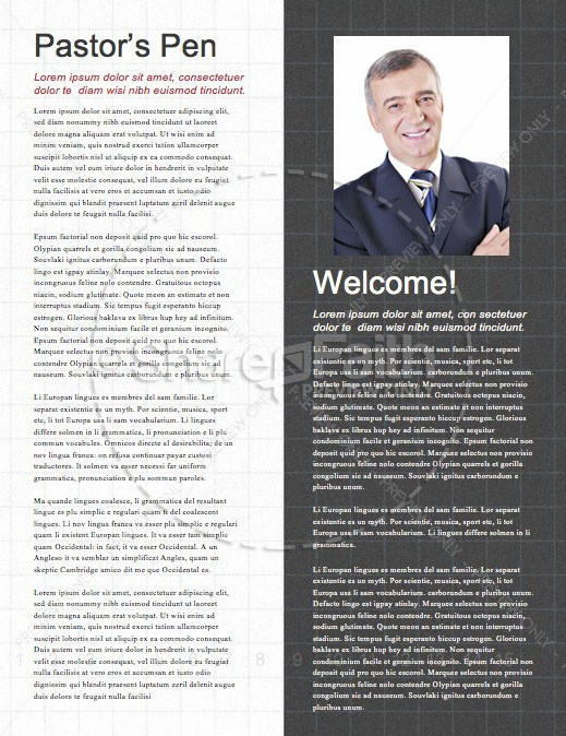 Honest To God Church Newsletter Template | page 3