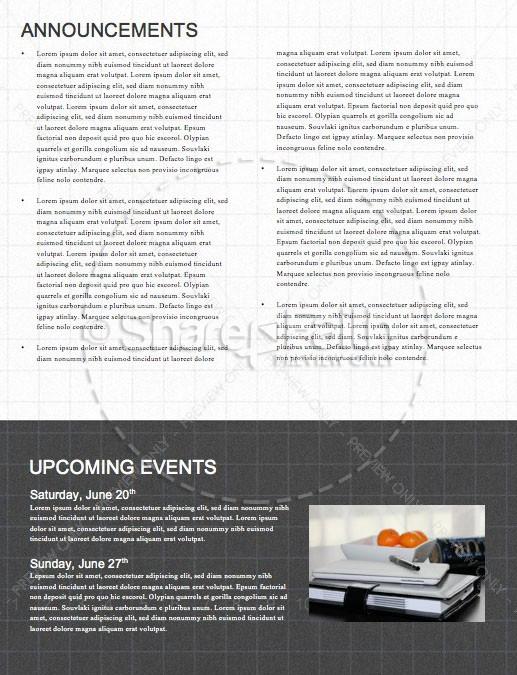 Honest To God Church Newsletter Template | page 4