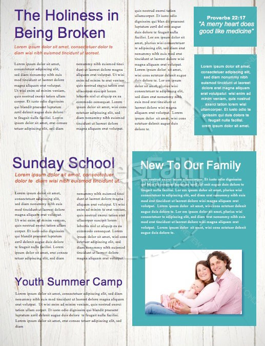 Father's Day We Love You Dad Church Newsletter