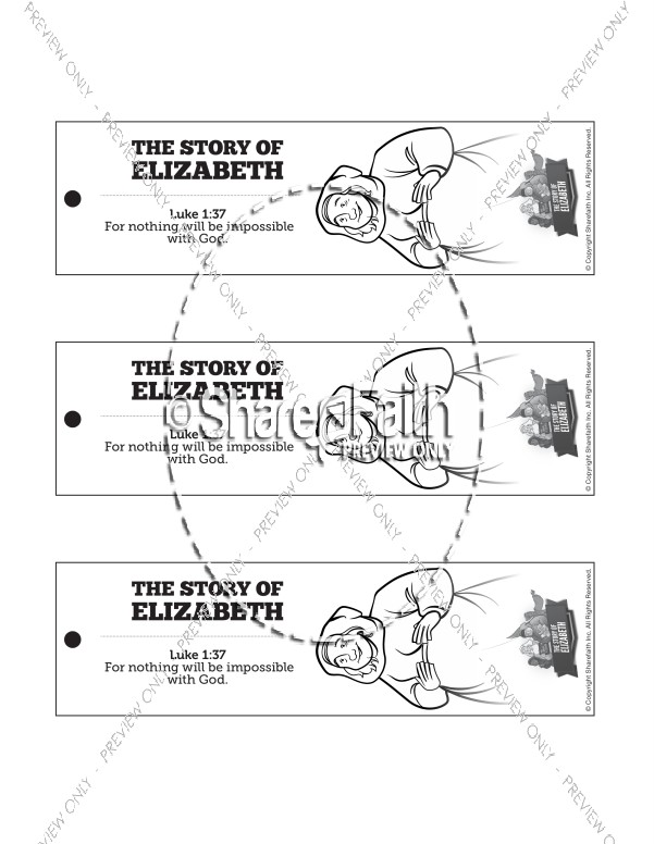 Luke 1 The Story of Elizabeth Bible Bookmarks