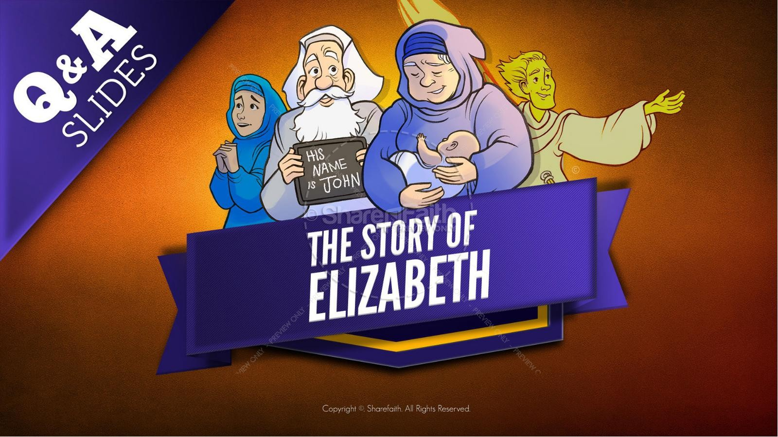 Luke 1 The Story of Elizabeth Kids Bible Story