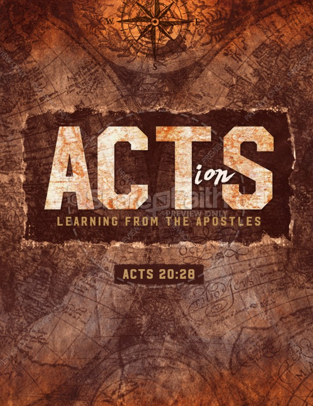 Acts Of The Apostles Church Flyer