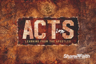 Acts Of The Apostles Church Service Motion Graphic