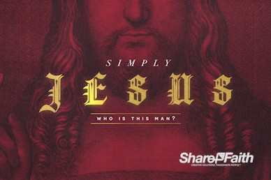 Who Is Jesus Christ Sermon Motion Graphic