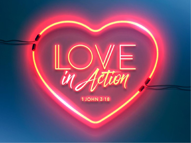 Love In Action Sermon PowerPoint Template