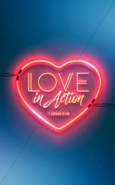 Love In Action Sermon Bulletin Cover