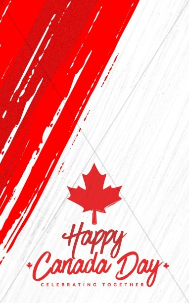 Canada Day Church Bulletin Cover