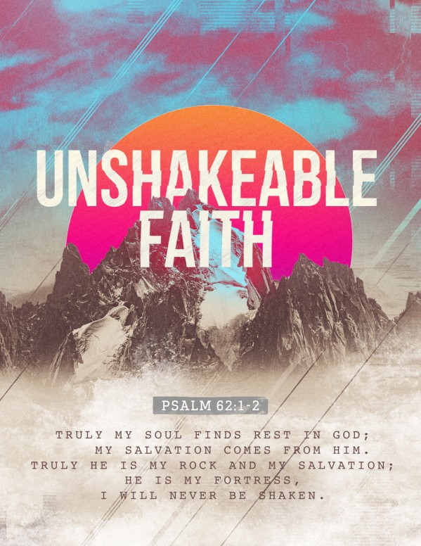 Unshakeable Faith Sermon Series Flyer Template