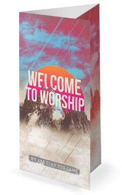Unshakeable Faith Sermon Series Trifold Bulletin Cover