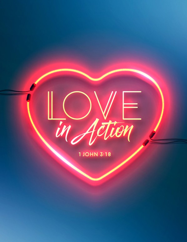 Love In Action Sermon Flyer Template