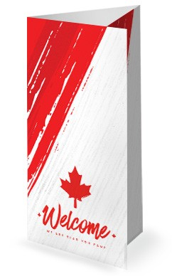 Canada Day Church Trifold Bulletin Cover