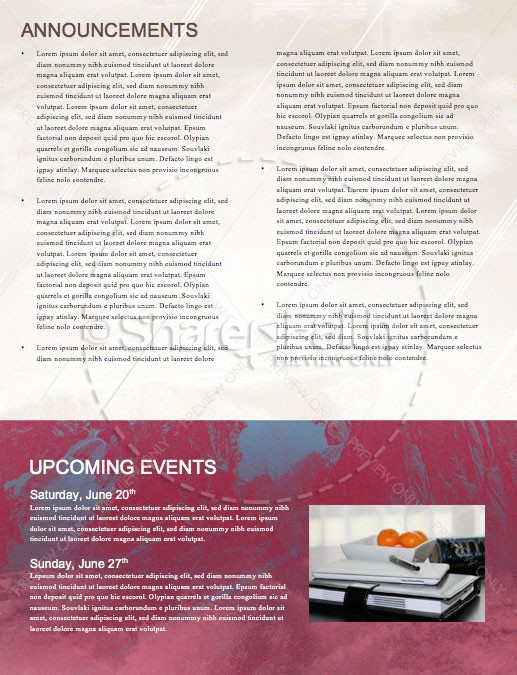 Unshakeable Faith Sermon Series Newsletter Template | page 4