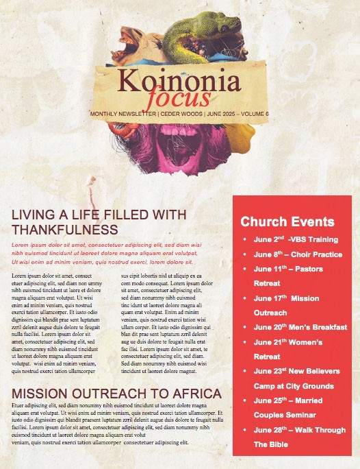 Love Your Enemies Church Newsletter Template