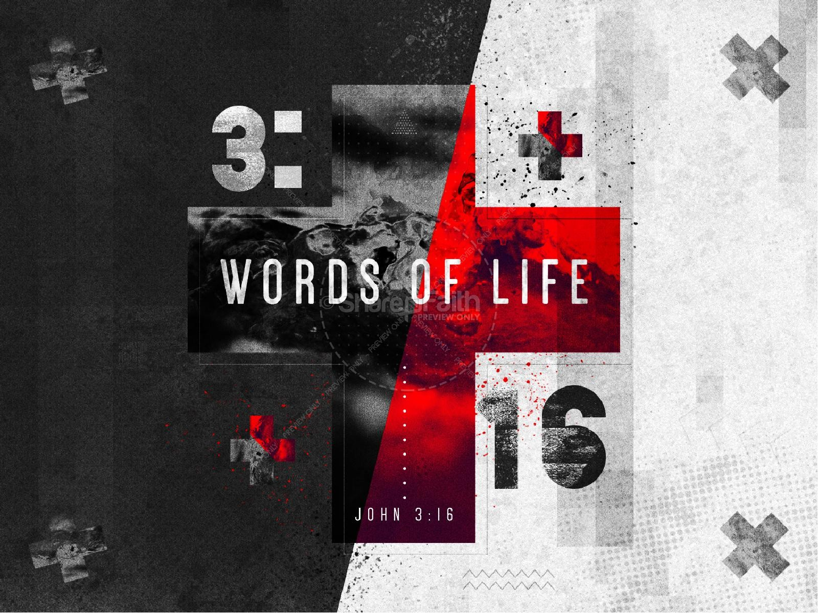 Words of Life John 3:16 Sermon PowerPoint