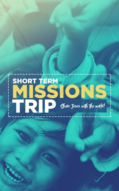 Church Missions Trip Bulletin Cover Template