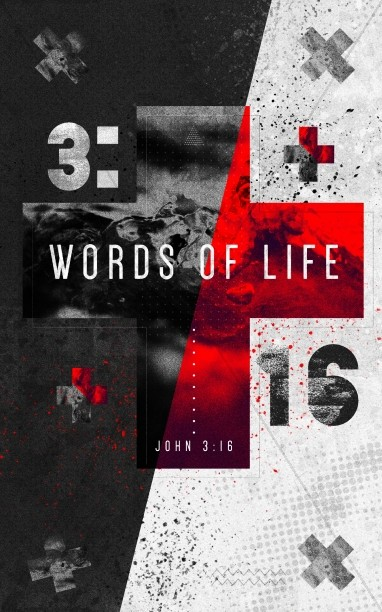 Words of Life John 3:16 Sermon Bulletin Cover