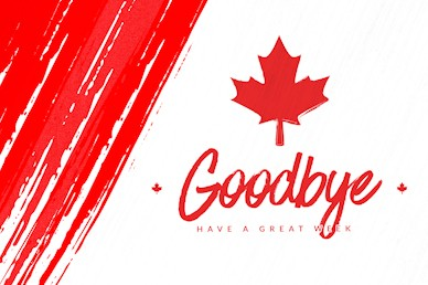 Canada Day Goodbye Motion Graphic