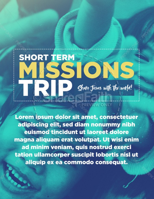 church missions trip flyer template template