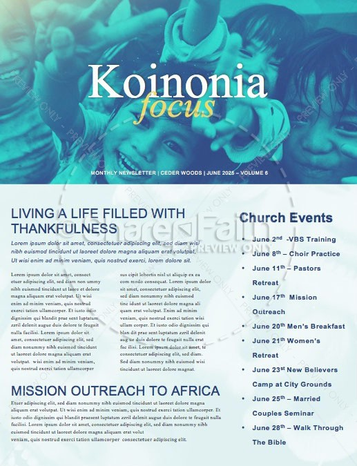 Church Missions Trip Newsletter Template