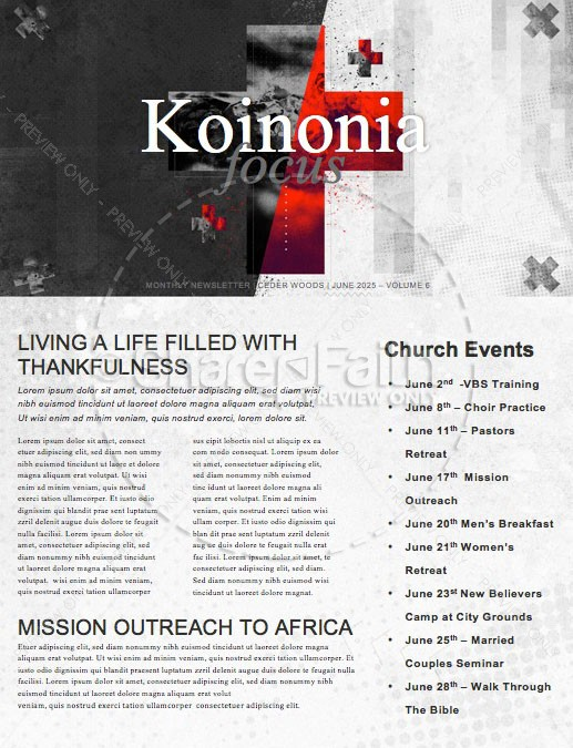 Words of Life John 3:16 Church Newsletter Template