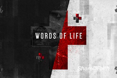 Words of Life John 3:16 Sermon Motion Graphic