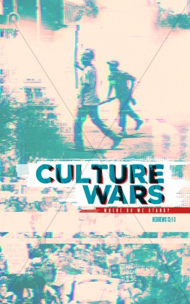 Culture Wars Christian Sermon Bulletin Cover