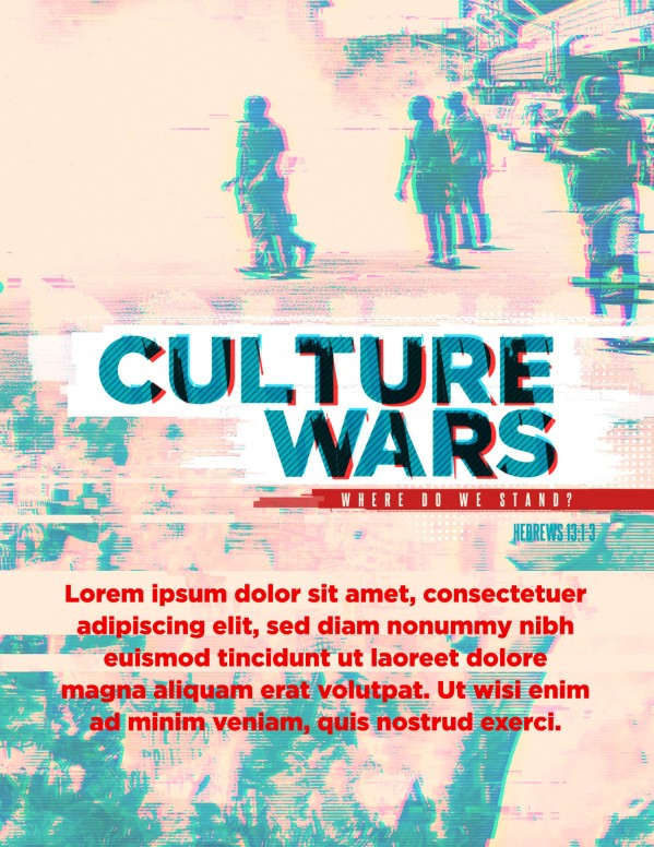 Culture Wars Christian Flyer Template