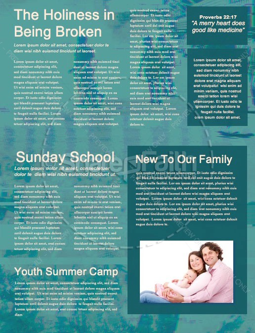 Culture Wars Christian Church Newsletter Template