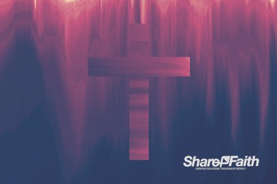 Pixel Distortion Cross Worship Motion Background